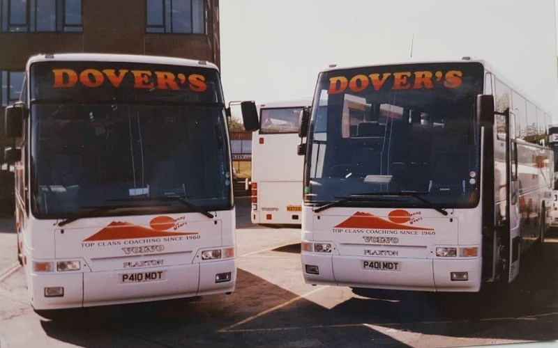 Dovers Coaches History fleet through the ages