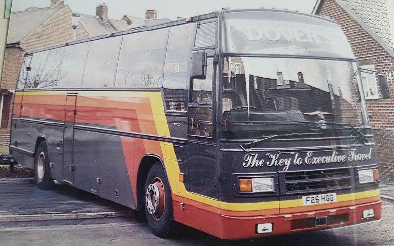 Dovers Coaches History fleet through the eras